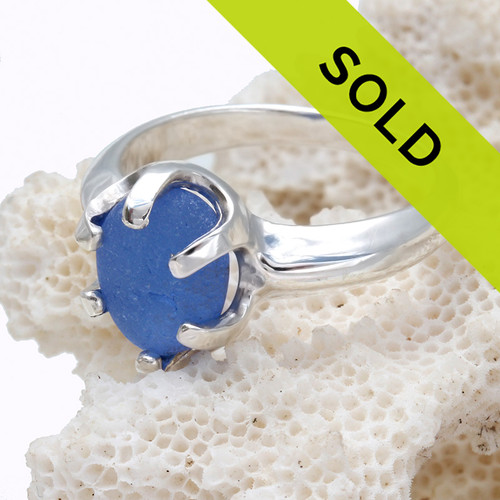 Sorry this blue sea glass ring has been sold.