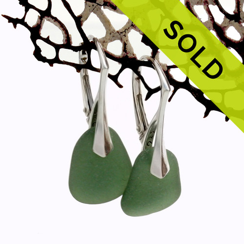 Sorry these green sea glass earrings on leverbacks have been sold.