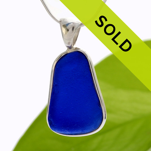 Sorry this large genuine blue sea glass pendant in sterling has been sold!