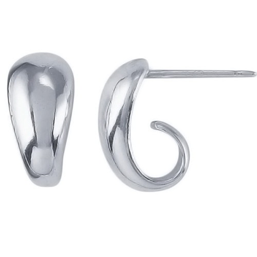 Solid Sterling Curved Post Earring