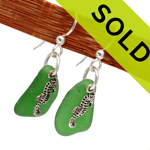 Sorry these green sea glass earrings have been sold.
