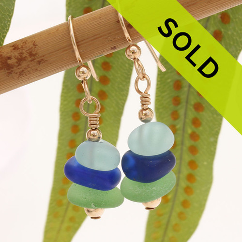 Sorry these sea glass stack earrings have been sold!