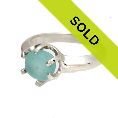 Sorry this aqua sea glass ring has SOLD!