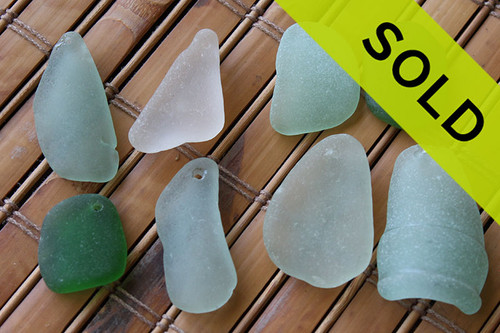 Sorry these drilled sea glass pieces have sold!