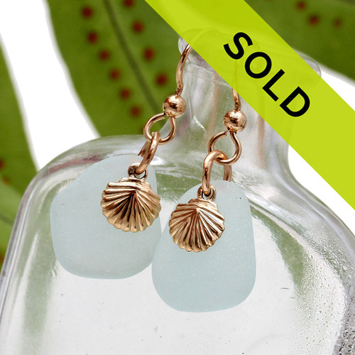 Sorry these pale aqua sea glass earrings have SOLD!