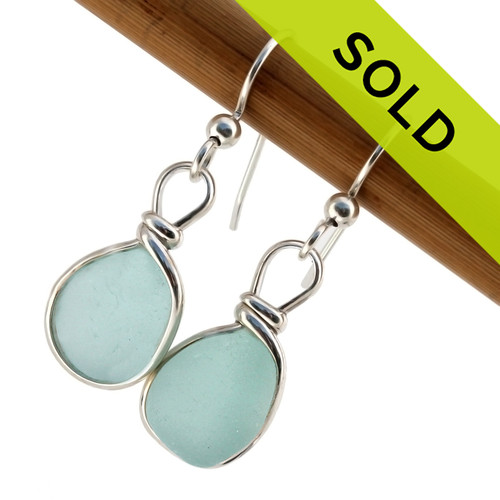 Sorry this beautiful pair of baby blue sea glass earrings has sold!