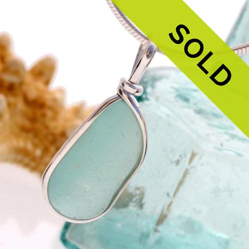 this aqua blue sea glass pendant has been sold!