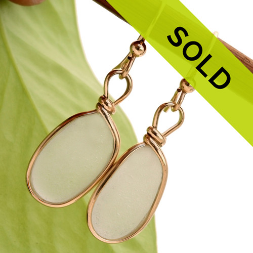 These white sea glass earrings have sold!