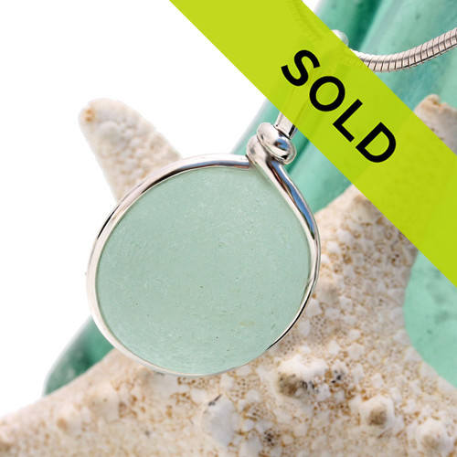 Sorry this gorgeous seafoam sea glass pendant has been sold!~