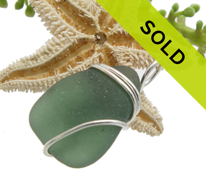 Sorry this piece green sea glass necklace pendant has sold!