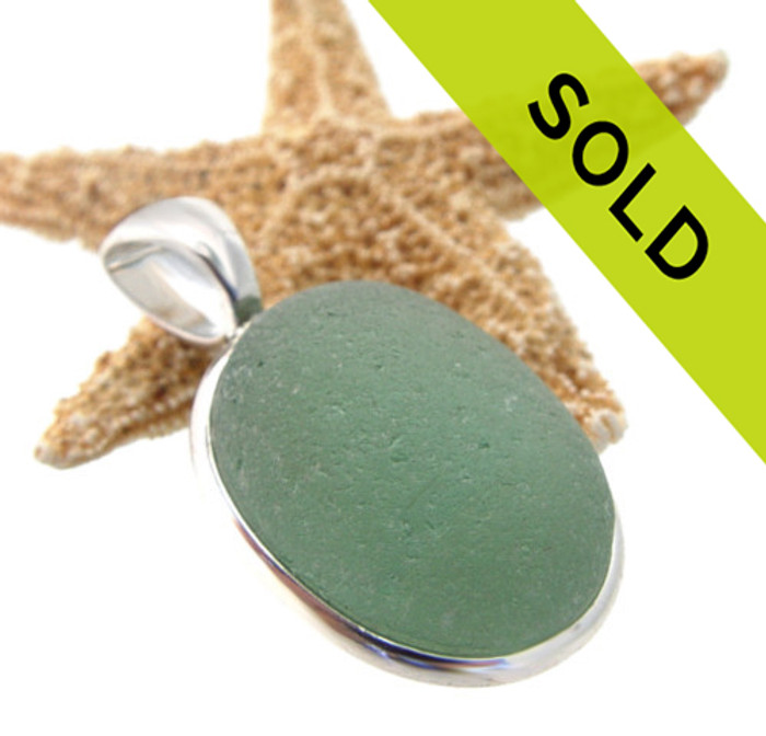 Sorry this sea green sea glass pendant in our deluxe Wire Bezel© setting in silver has been sold!