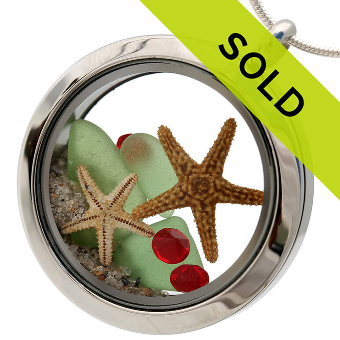 Sorry this green sea glass and gemstone locket has been SOLD