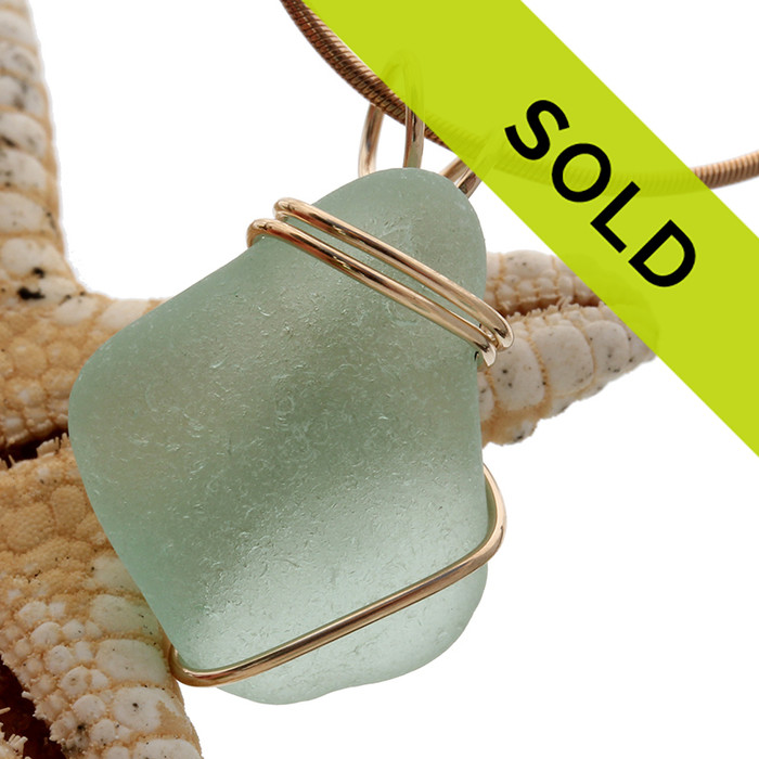 Sorry this seafoam green pendant has SOLD!
