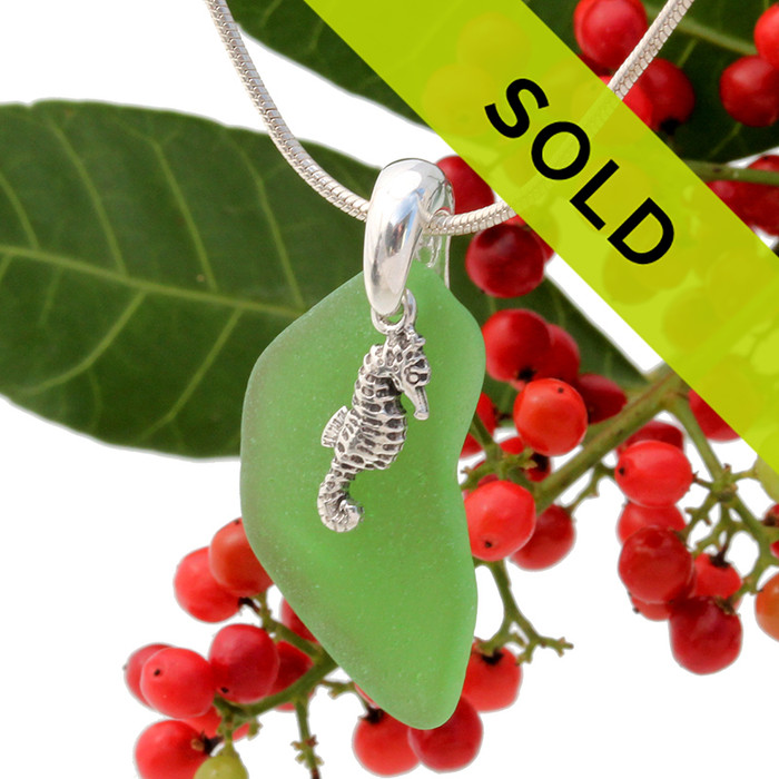 This sea glass necklace has sold!