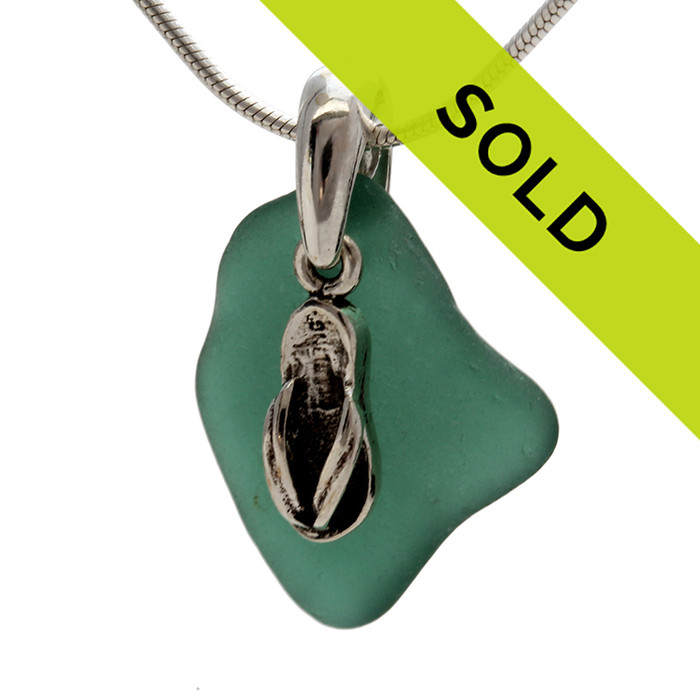 Sorry this sea glass teal necklace has sold!