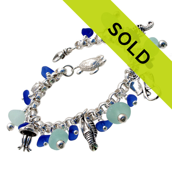 Sorry this once in a lifetime sea glass bracelet has been sold!