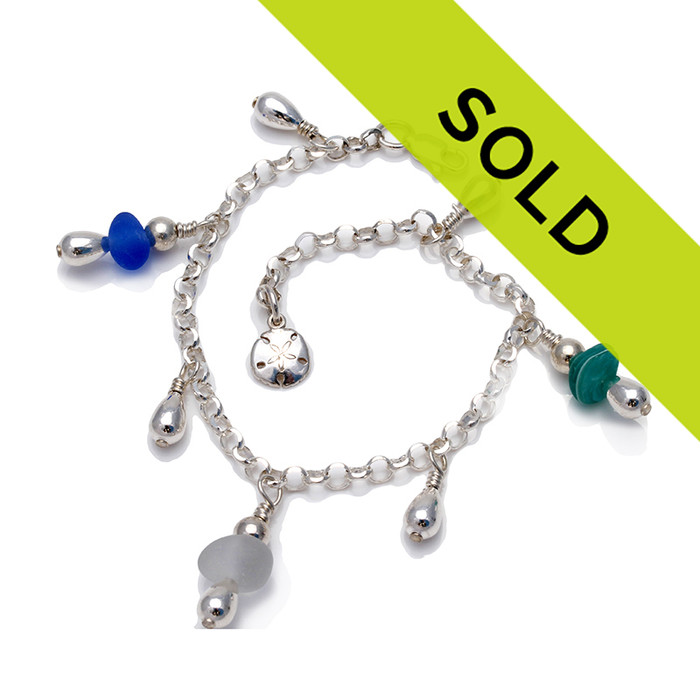 Sorry this sea glass bracelet has sold!