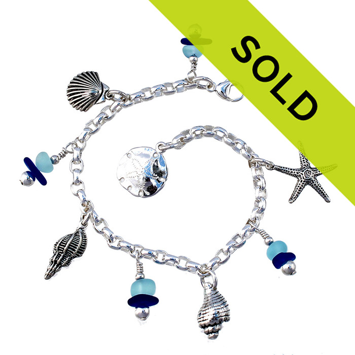 Sorry this exact sea glass bracelet has been sold!