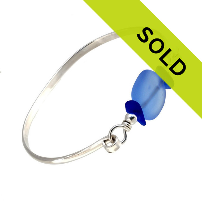 Sorry this sea glass bangle bracelet is no longer for sale.