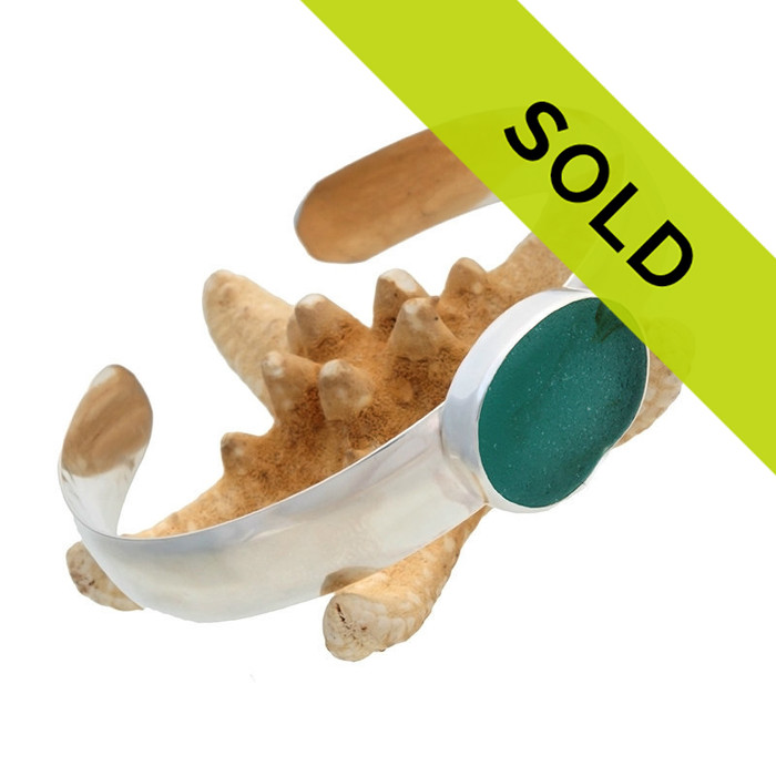 Sorry this sea glass cuff bracelet has been sold!