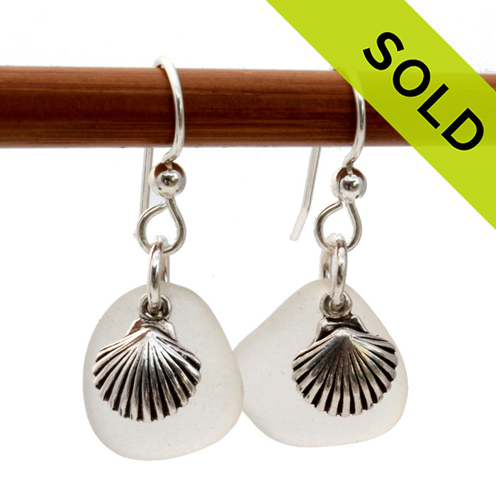 A great pair of Sea Glass Earrings for any time of year! SOLD - These Sea Glass Earrings are NO LONGER AVAILABLE!