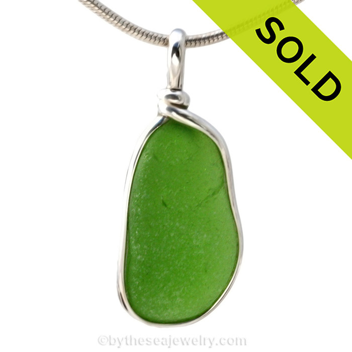 Simple and elegant our ORIGINAL setting highlights the sea glass. Sorry this sea glass necklace pendant has been sold!