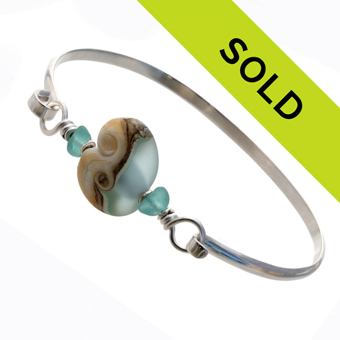 Sorry this sea glass jewelry bangle has been sold!
