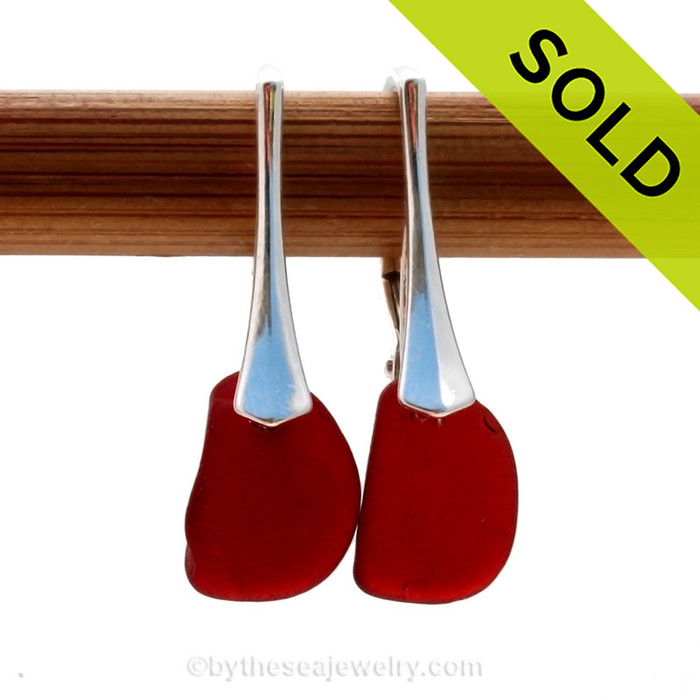 Sorry this rare red sea glass jewelry selection has been sold!