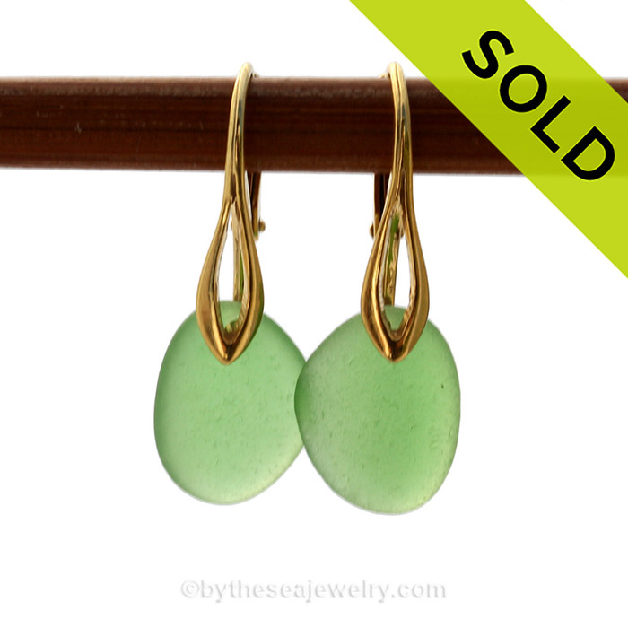 SOLD - Sorry these Sea Glass Earrings are NO LONGER AVAILABLE!