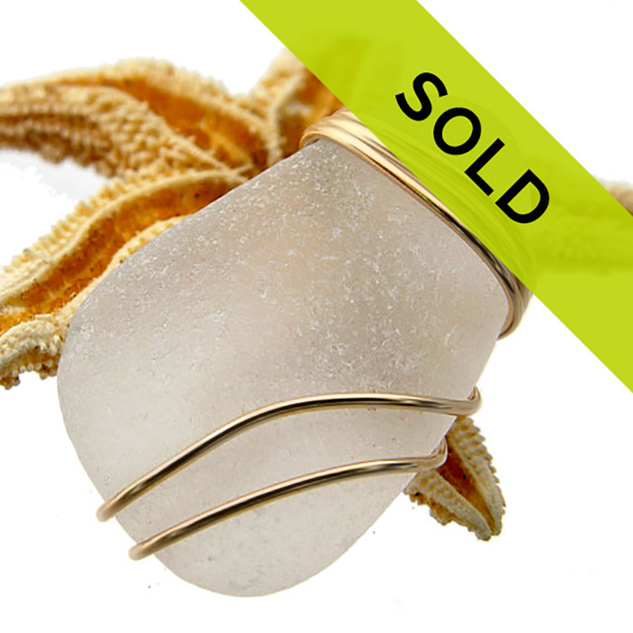 Top Quality sea glass has no shiny spots, a good degree of frost and a well rounded shape. Sorry this pendant has sold!