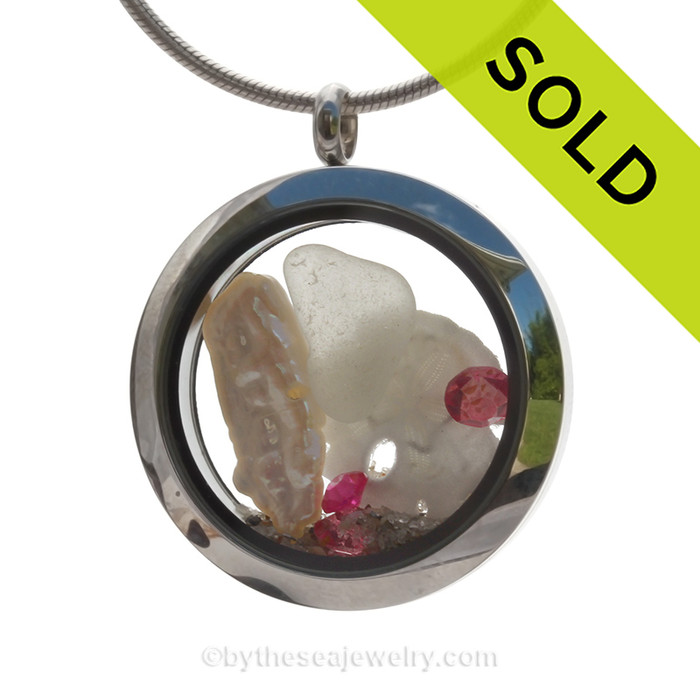 SOLD - Sorry this Sea Glass Locket is NO LONGER AVAILABLE!