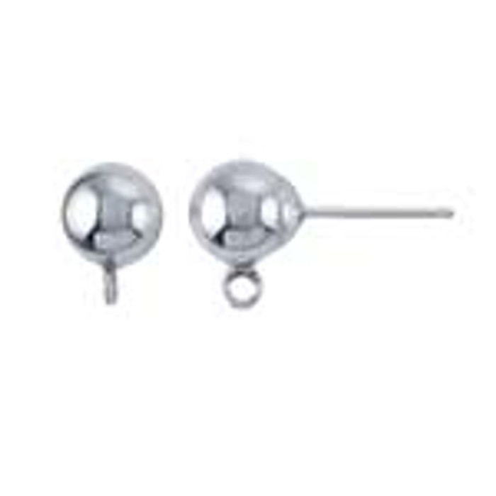 Solid Sterling Ball Post Earring