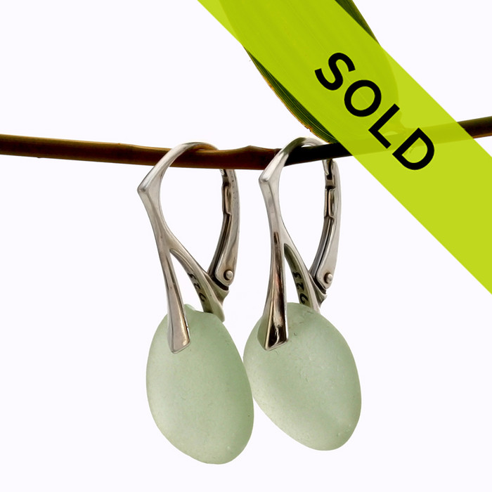 Sorry these seafoam sea glass earrings have been sold!