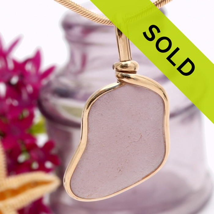 Sorry this one of a kind purple sea glass pendant has been SOLD!