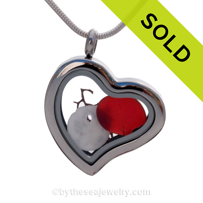 A great choice for a Valentines gift for your favorite sea glass lover!