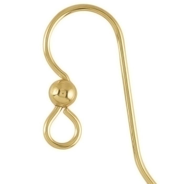 This pair comes on 14K Rolled Gold French Earwires.