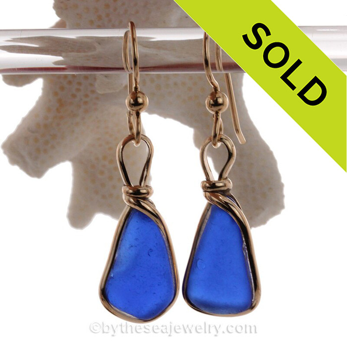 Nice lightweight and thinner of naturally collected Cobalt Blue Sea Glass in our ORIGINAL Wire Bezel© earring setting. The sea glass is unaltered from the way it was found on the beach. Elegant and timeless. This pair comes on Professional Grade French Ear wires with 4mm balls (shown) but other options are available