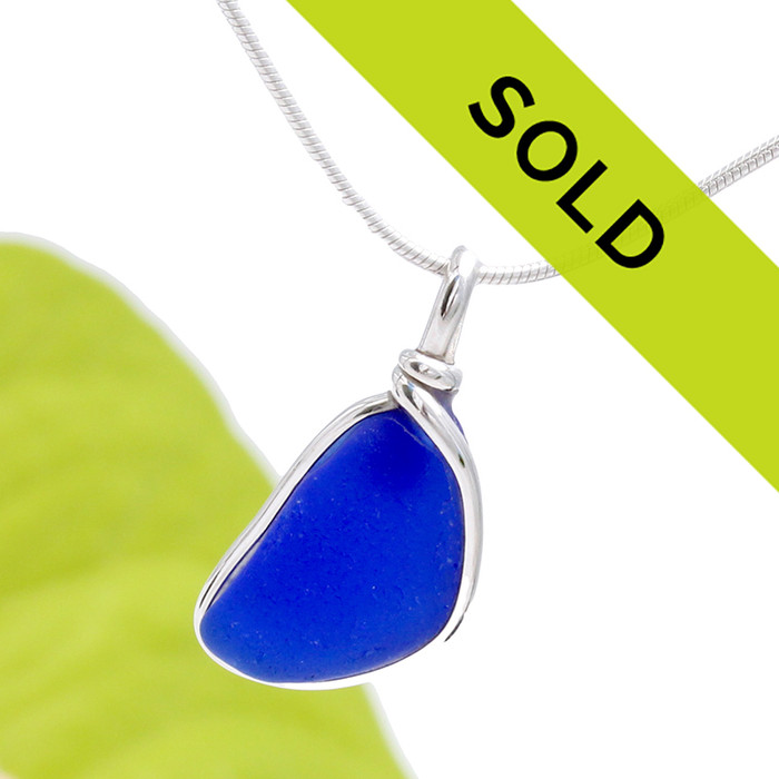 Sorry this cobalt blue sea glass pendant in silver has been sold!