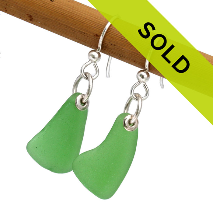 Sorry these simply sea glass green earrings have SOLD!
