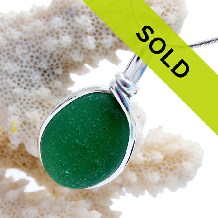 Sorry this sea glass green pendant has sold!