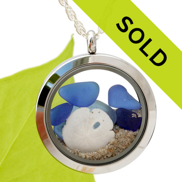This exact sea glass locket has been sold!