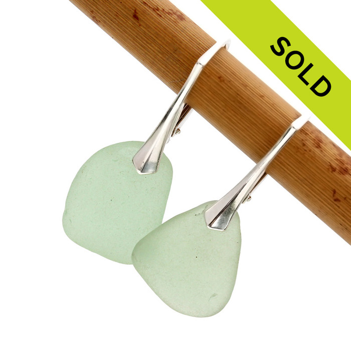 Sorry these seafoam leverback earrings have been sold!