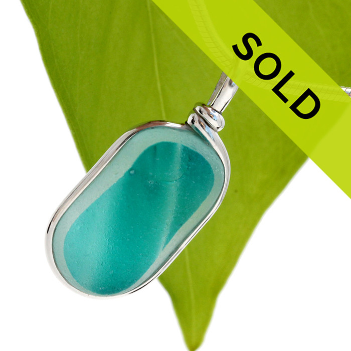 Sorry this beautiful sea glass necklace pendant has been sold!