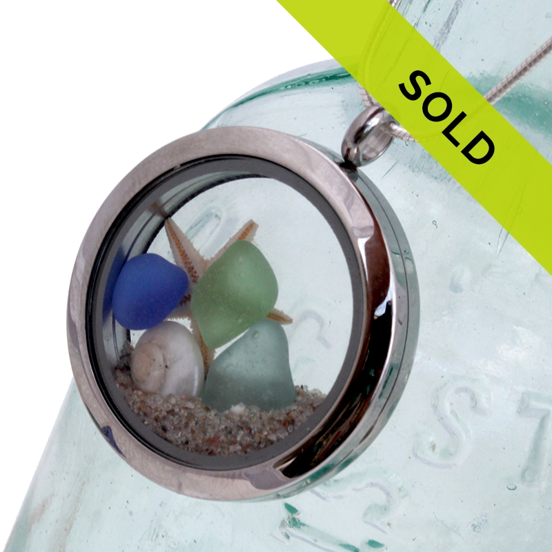 Sold Sea Glass Lockets
