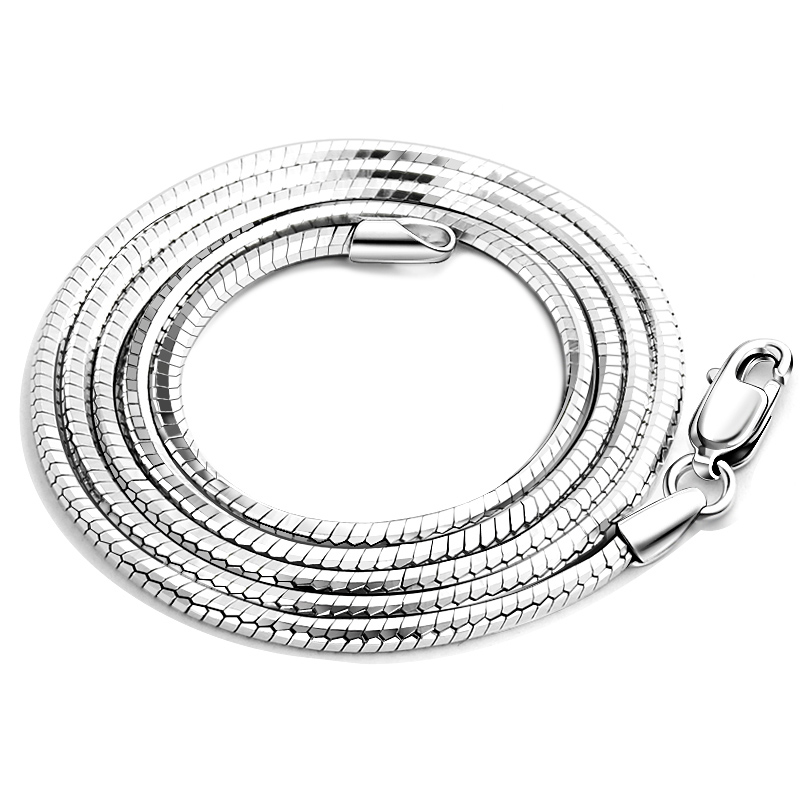 solid stering silver snake chain 24 inches