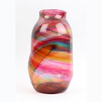 Multi Color Hartley Vase