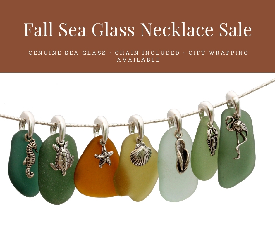 Fall Sea Glass Necklace Sale is ON!
