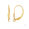 This pair comes on 14K Goldfilled Leverback earrings for pierced ears.