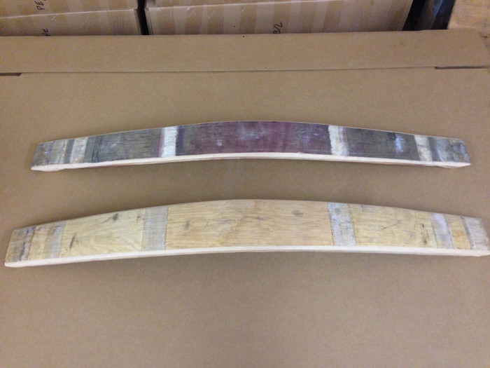 Individual wine barrel staves for projects