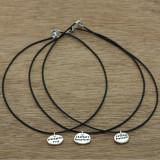rustic pebble necklace